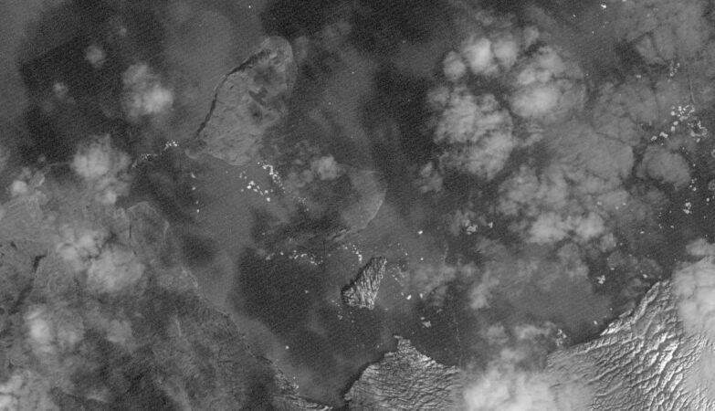 Госкорпорация РОСКОСМОС предоставила снимки нового острова Титова